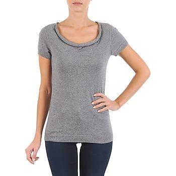Υφασμάτινα Γυναίκα T-shirt με κοντά μανίκια La City PULL COL BEB Grey