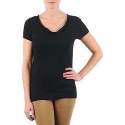 Υφασμάτινα Γυναίκα T-shirt με κοντά μανίκια La City PULL COL BEB Black