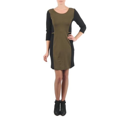 Υφασμάτινα Γυναίκα Κοντά Φορέματα La City ROKAMIL Kaki / Black