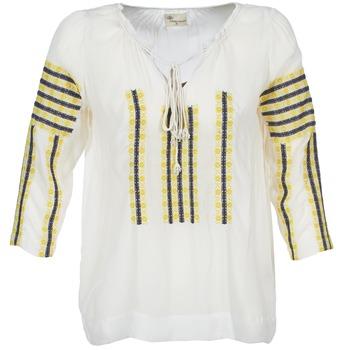 Υφασμάτινα Γυναίκα Μπλούζες Stella Forest ATU025 άσπρο / Grey / Yellow