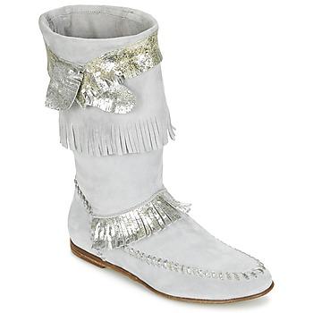 Παπούτσια Γυναίκα Μπότες για την πόλη Now MATELI Grey / Argenté