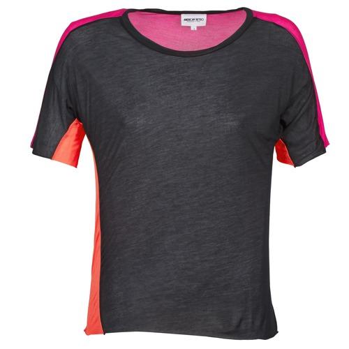Υφασμάτινα Γυναίκα T-shirt με κοντά μανίκια American Retro CAROLE Black / Ροζ