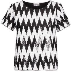 Υφασμάτινα Γυναίκα T-shirt με κοντά μανίκια American Retro GEGE Black / Άσπρο