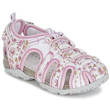 Παπούτσια Κορίτσι Σπορ σανδάλια Geox S.ROXANNE C άσπρο / ροζ