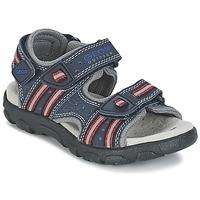 Παπούτσια Κορίτσι Σπορ σανδάλια Geox S.STRADA A MARINE / Red