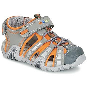 Παπούτσια Αγόρι Σπορ σανδάλια Geox SANDAL KRAZE B Grey / Orange