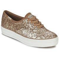 Παπούτσια Γυναίκα Χαμηλά Sneakers Keds TRIPLE GLITTER Gold