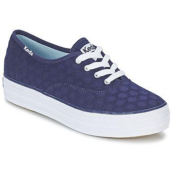 Παπούτσια Γυναίκα Χαμηλά Sneakers Keds TRIPLE EYELET MARINE