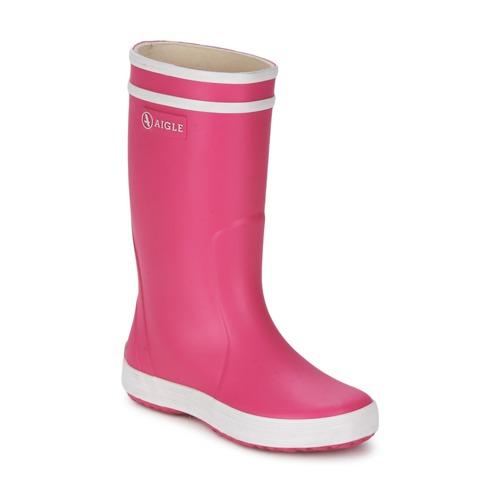 Παπούτσια Κορίτσι Μπότες βροχής Aigle LOLLY-POP Ροζ / Άσπρο
