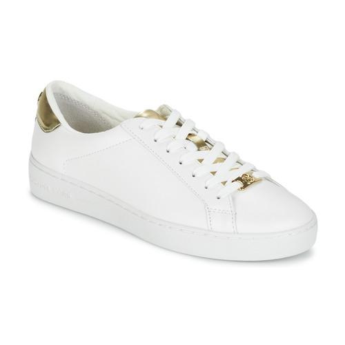 Παπούτσια Γυναίκα Χαμηλά Sneakers MICHAEL Michael Kors IRVING Άσπρο / Dore