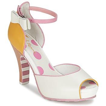 Παπούτσια Γυναίκα Σανδάλια / Πέδιλα Lola Ramona ANGIE ροζ / άσπρο