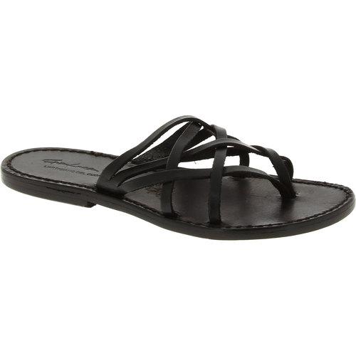Παπούτσια Γυναίκα Σανδάλια / Πέδιλα Gianluca - L'artigiano Del Cuoio 543 D NERO CUOIO nero