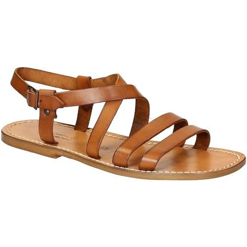 Παπούτσια Άνδρας Σανδάλια / Πέδιλα Gianluca - L'artigiano Del Cuoio 531 U CUOIO CUOIO Cuoio