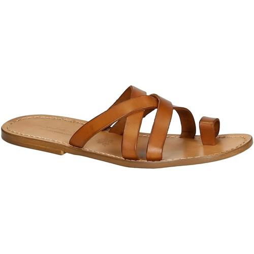 Παπούτσια Άνδρας Σανδάλια / Πέδιλα Gianluca - L'artigiano Del Cuoio 549 U CUOIO CUOIO Cuoio