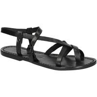 Παπούτσια Γυναίκα Σανδάλια / Πέδιλα Gianluca - L'artigiano Del Cuoio 530 D NERO CUOIO nero