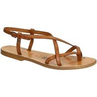 Παπούτσια Γυναίκα Σανδάλια / Πέδιλα Gianluca - L'artigiano Del Cuoio 537 D CUOIO CUOIO Cuoio