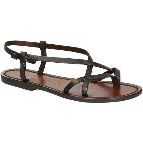 Παπούτσια Γυναίκα Σανδάλια / Πέδιλα Gianluca - L'artigiano Del Cuoio 537 D MORO CUOIO Testa di Moro