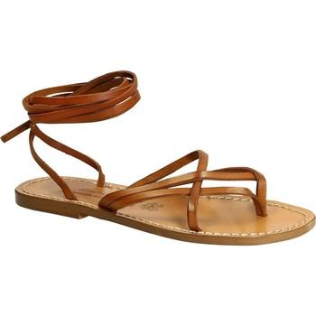 Παπούτσια Γυναίκα Σανδάλια / Πέδιλα Gianluca - L'artigiano Del Cuoio 514 D CUOIO CUOIO Cuoio