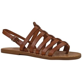 Παπούτσια Γυναίκα Σανδάλια / Πέδιλα Gianluca - L'artigiano Del Cuoio 576 D CUOIO CUOIO Cuoio