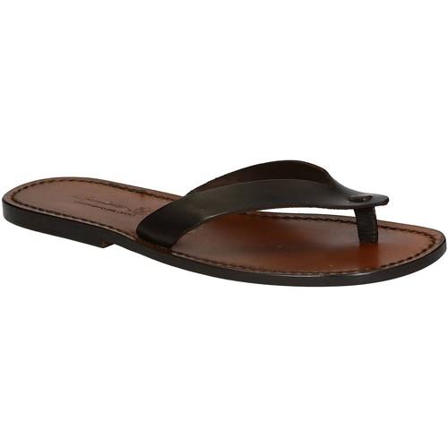 Παπούτσια Άνδρας Σαγιονάρες Gianluca - L'artigiano Del Cuoio 541 U MORO CUOIO Testa di Moro