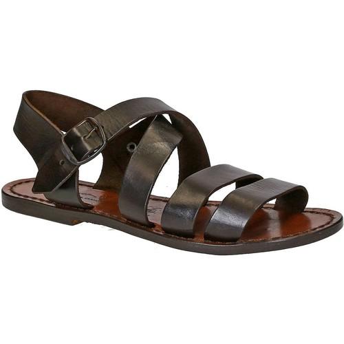 Παπούτσια Γυναίκα Σανδάλια / Πέδιλα Gianluca - L'artigiano Del Cuoio 508 D MORO CUOIO Testa di Moro
