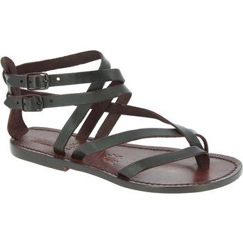 Παπούτσια Γυναίκα Σανδάλια / Πέδιλα Gianluca - L'artigiano Del Cuoio 574 D MORO CUOIO Testa di Moro