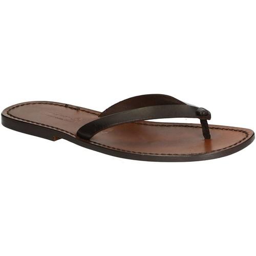 Παπούτσια Άνδρας Σαγιονάρες Gianluca - L'artigiano Del Cuoio 540 U MORO CUOIO Testa di Moro