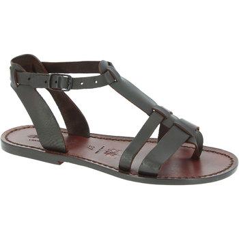 Παπούτσια Γυναίκα Σανδάλια / Πέδιλα Gianluca - L'artigiano Del Cuoio 572 D MORO CUOIO Testa di Moro