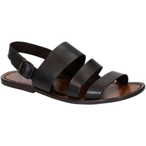 Παπούτσια Άνδρας Σανδάλια / Πέδιλα Gianluca - L'artigiano Del Cuoio 507 U MORO CUOIO Testa di Moro