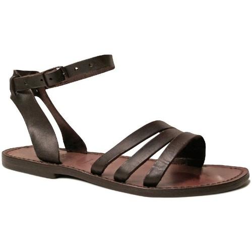 Παπούτσια Γυναίκα Σανδάλια / Πέδιλα Gianluca - L'artigiano Del Cuoio 583 D MORO CUOIO Testa di Moro