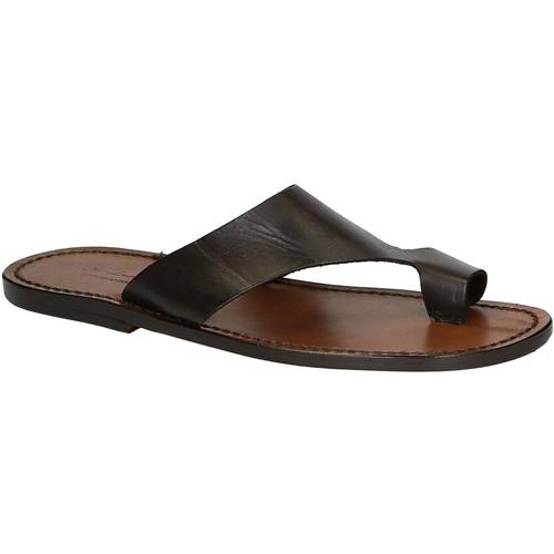 Παπούτσια Άνδρας Σανδάλια / Πέδιλα Gianluca - L'artigiano Del Cuoio 521 U MORO CUOIO Testa di Moro