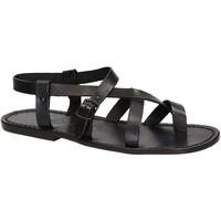 Παπούτσια Άνδρας Σανδάλια / Πέδιλα Gianluca - L'artigiano Del Cuoio 530 U NERO CUOIO nero