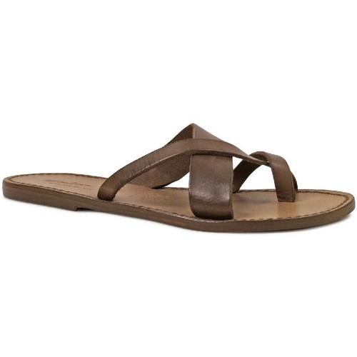 Παπούτσια Γυναίκα Σανδάλια / Πέδιλα Gianluca - L'artigiano Del Cuoio 545 D FANGO CUOIO Fango