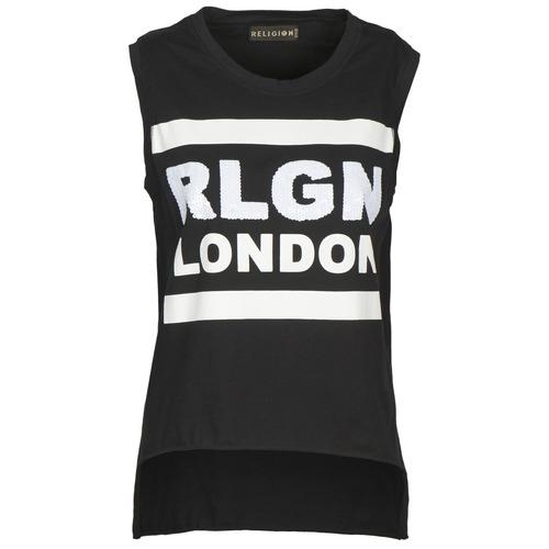 Υφασμάτινα Γυναίκα Αμάνικα / T-shirts χωρίς μανίκια Religion B123RGT41 Black