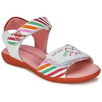 Παπούτσια Κορίτσι Σανδάλια / Πέδιλα Agatha Ruiz de la Prada CAZOLETA Άσπρο / Multicolore