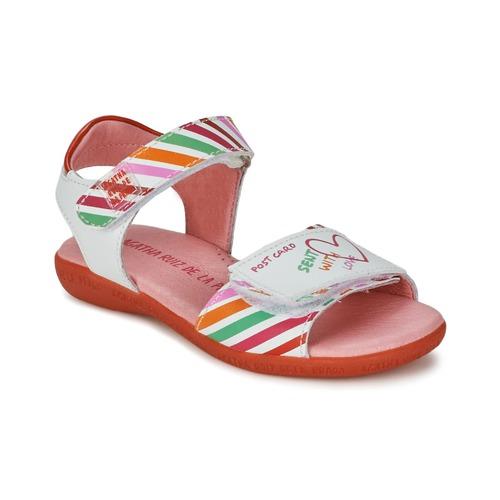 Παπούτσια Κορίτσι Σανδάλια / Πέδιλα Agatha Ruiz de la Prada CAZOLETA Άσπρο / Multicolour