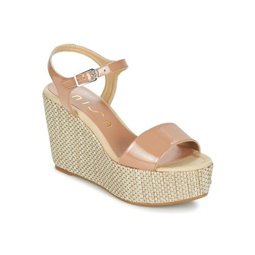 Παπούτσια Γυναίκα Σανδάλια / Πέδιλα Unisa LITUAN Beige / Ροζ