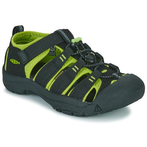 Παπούτσια Αγόρι Σπορ σανδάλια Keen KIDS NEWPORT H2 Black / Green
