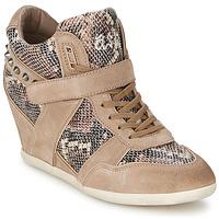 Παπούτσια Γυναίκα Ψηλά Sneakers Ash BISOU Taupe / Python