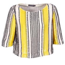 Υφασμάτινα Γυναίκα Μπλούζες Antik Batik ZABOU Yellow / Άσπρο / Black