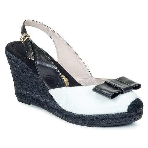 Παπούτσια Γυναίκα Σανδάλια / Πέδιλα RAS FROI Black / Άσπρο