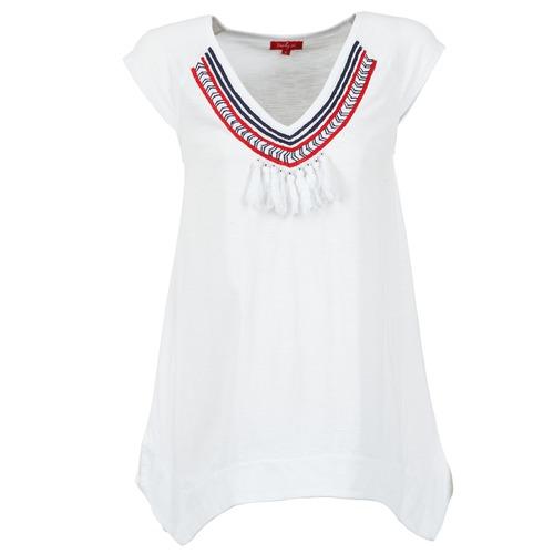 Υφασμάτινα Γυναίκα T-shirt με κοντά μανίκια Derhy GALION άσπρο
