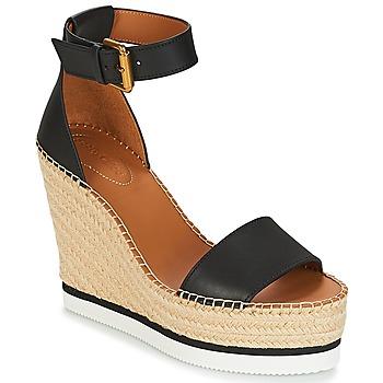 Παπούτσια Γυναίκα Σανδάλια / Πέδιλα See by Chloé SB26152 Black / άσπρο