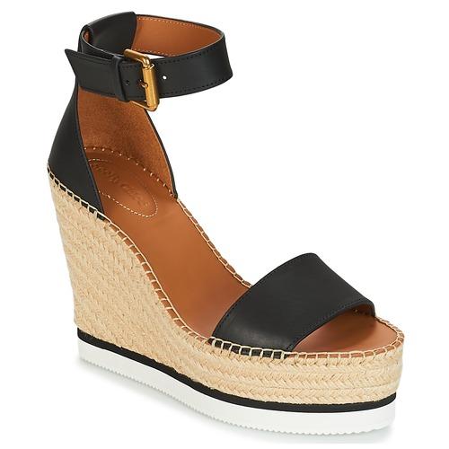 Παπούτσια Γυναίκα Εσπαντρίγια See by Chloé SB26152 Black / Άσπρο