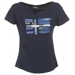 Υφασμάτινα Γυναίκα T-shirt με κοντά μανίκια Napapijri SINK MARINE