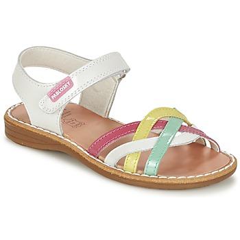 Παπούτσια Κορίτσι Σανδάλια / Πέδιλα Pablosky ATINA άσπρο / Multicolore