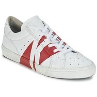 Παπούτσια Άνδρας Χαμηλά Sneakers Bikkembergs RUBB-ER 668 LEATHER άσπρο / Red