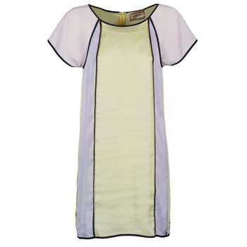 Υφασμάτινα Γυναίκα Κοντά Φορέματα Chipie FREGENAL Yellow / Grey