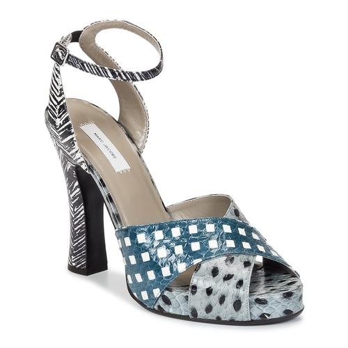 Παπούτσια Γυναίκα Σανδάλια / Πέδιλα Marc Jacobs Elap Μπλέ / Άσπρο
