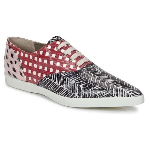Παπούτσια Γυναίκα Derby Marc Jacobs Elap Black / Άσπρο / Red